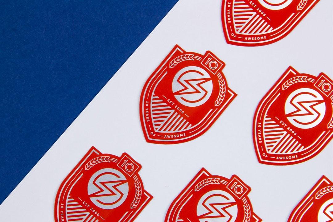 Sauce Labs Anniversary brand materials
